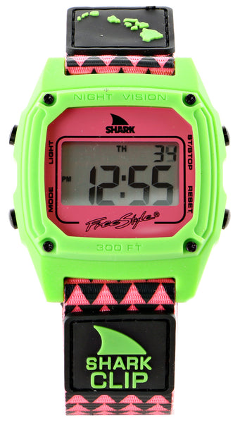 Freestyle Shark Clip Hawaii Digital Display Japanese Quartz Black Watch (10022121)