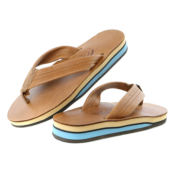 Rainbow Premier Double Layer Wide Strap Sandals - Women's