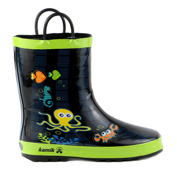 Kamik Octopus Rain Boot Shoe - LIME - Boys