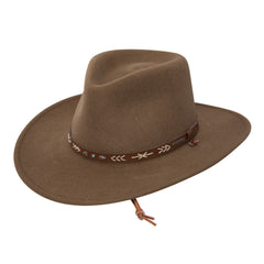 STETSON SANTA FE CRUSHABLE WOOL FELT HAT