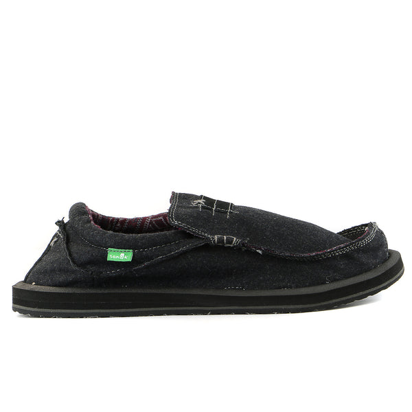 Sanuk Kyoto Felt Slip on loafer - Charcoal - Mens