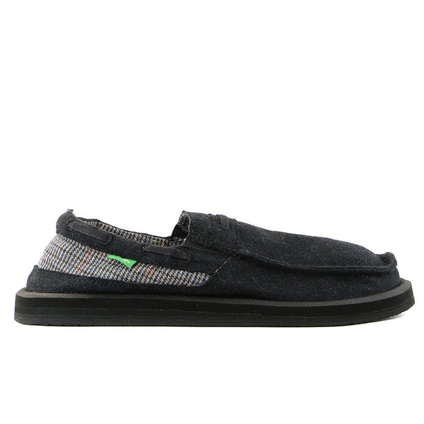 Sanuk Skipjack Hookie Slip on loafer - Black - Mens
