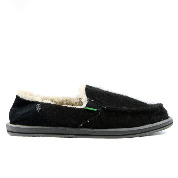 Sanuk Kimbrrrr Slip on loafer - Black - Womens