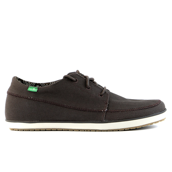 Sanuk Cassius Boat Shoe - Dark Brown - Mens