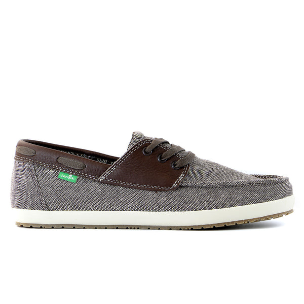 Sanuk Yacht Baio Boat Shoe - Dark Brown - Mens