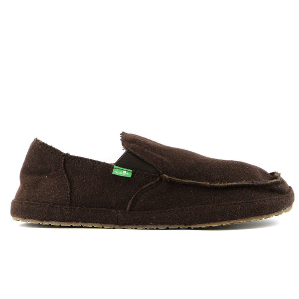 Sanuk Rounder Peacoat Slip on loafer - Brown - Mens