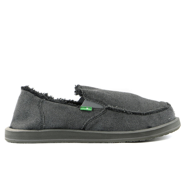 Sanuk Vagabond Chill Slip on loafer - Black - Mens