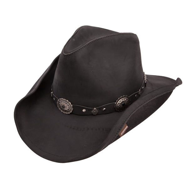 STETSON ROXBURY LEATHER WESTERN HAT