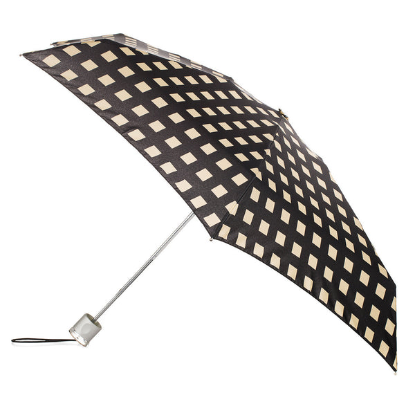 Totes Micro Fashion Micro AOC Umbrella   - Miami Gingham