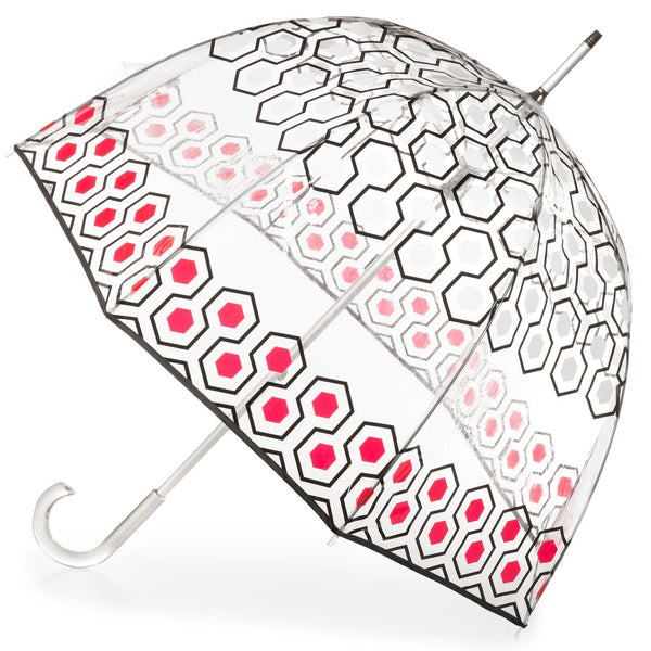 Totes Clear Bubble Umbrella  - Geo Boxes