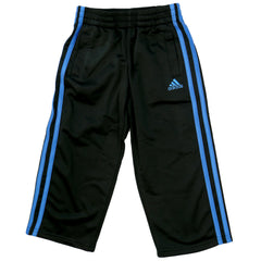Adidas Impact Tricot Track Pants - Black/Blue - Boys