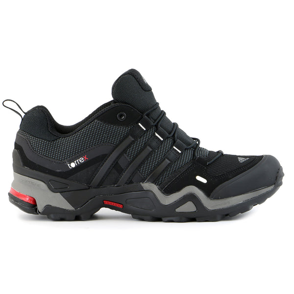 Adidas Outdoor Terrex Fast X FM Hiking Shoe  - Carbon/Black/Light Scarlet - Mens