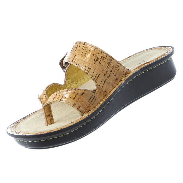 Alegria Valentina Slip On Slide Adjustable Strap Sandal Shoe - Womens