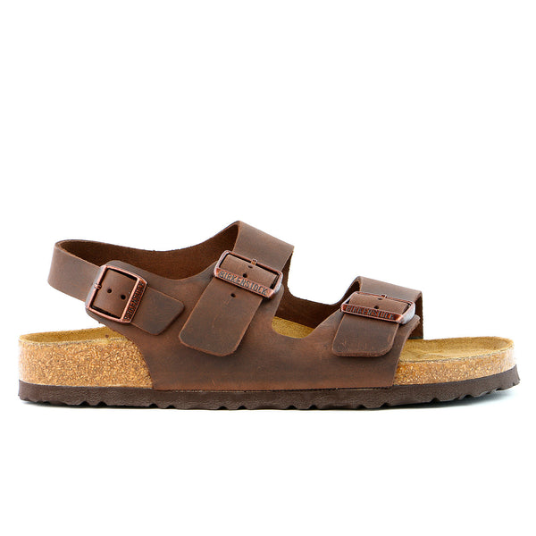 Birkenstock Milano SFB Leather Sandal - Habana Oiled Leather - Mens