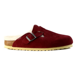 Birkenstock Shearling Lined Women's Slip On  - Bordeaux - Womens