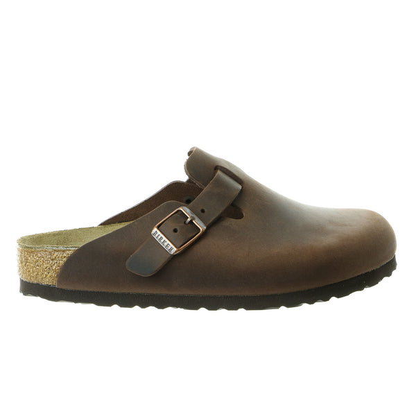 Birkenstock Boston Clog Sandal Shoe - Habana Oiled Leather - Mens