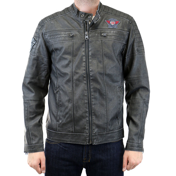 Buffalo by David Bitton Jarley Denim PU Bomber Jacket - Cannon - Mens