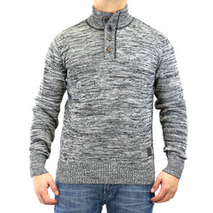 Buffalo Wiq Ov L/S 1/2 Mock Neck Sweater - Cannon - Mens