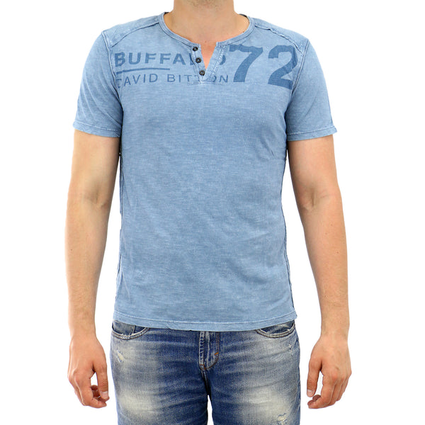 Buffalo Narwayne Short Sleeve Tee Fashion T-Shirt - Oyster - Mens