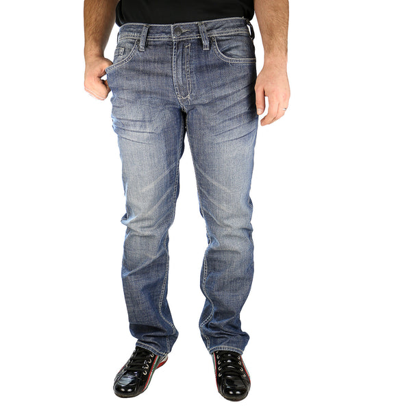 Buffalo by David Bitton Driven-X Jeans - Crinkled Damaged And Repaired - Mens