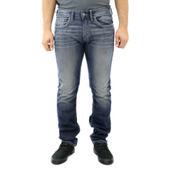 Buffalo by David Bitton Ash-X Basic Jeans - Dark And Crinkled - Mens