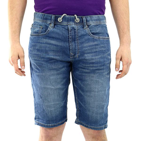Buffalo by David Bitton Casper-X Jean Shorts - Veined and Blasted - Mens