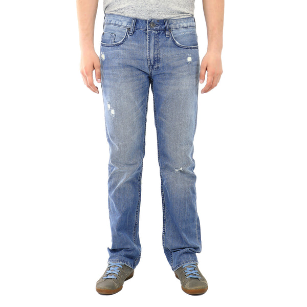Buffalo Six In Indigo Jeans - Worn and Sanded - Mens