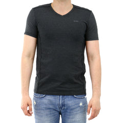 Calvin Klein Single Jersey Fashion Tee - Gunametal Com - Mens