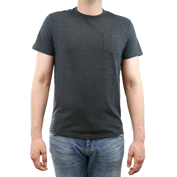 Calvin Klein S&Z Jersey Dress Fashion Tee - Gunmetal Ht Com - Mens