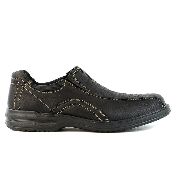Clarks   Sherwin Time Slip-On Loafer - Black Tumbled Leather - Mens