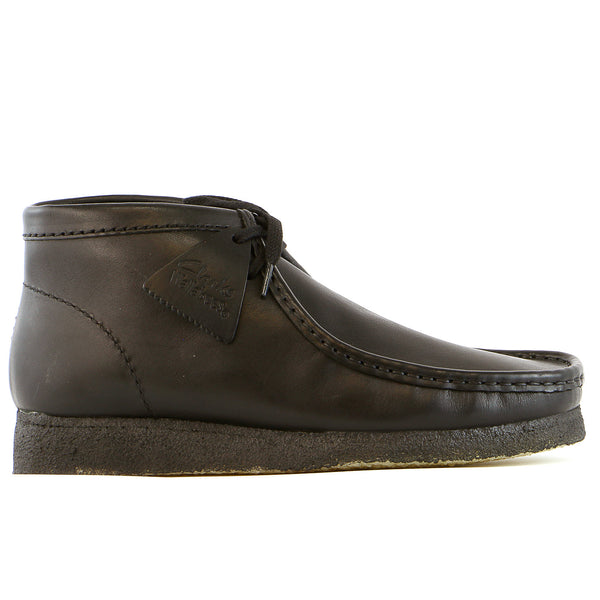 Clarks Wallabee Boot  - Black Leather - Mens