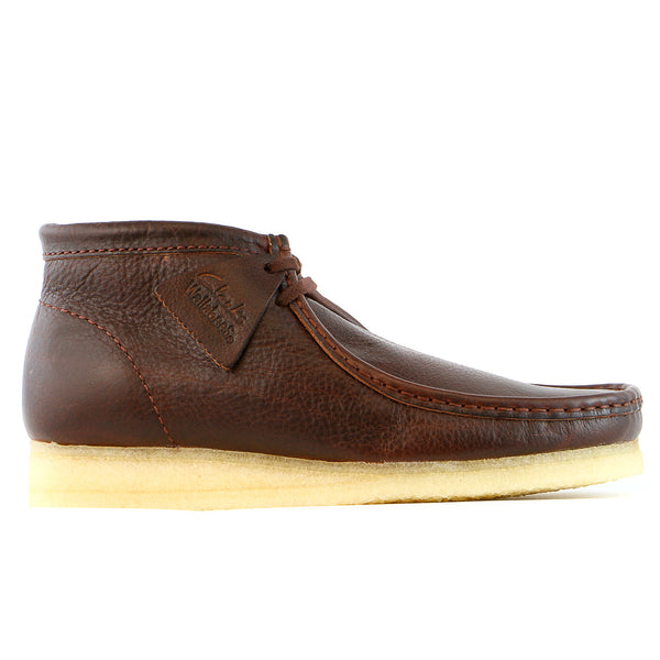 Clarks Wallabee B Chukka Boot  - Brown Leather - Mens