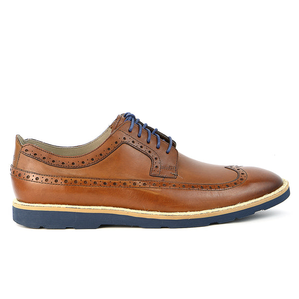 Clarks Gambeson Limit Oxford Shoe - Tan - Mens