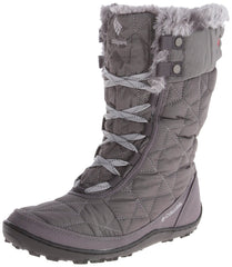Columbia Minx Mid II Omni-Heat Winter Boot  - Shale/Bright Red - Womens