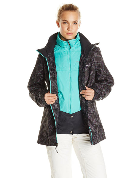 Columbia Whirlibird Interchange Jacket  - Black Print - Womens