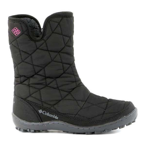 Columbia Minx Slip Snow Boot  - Black/Glamour - Boys