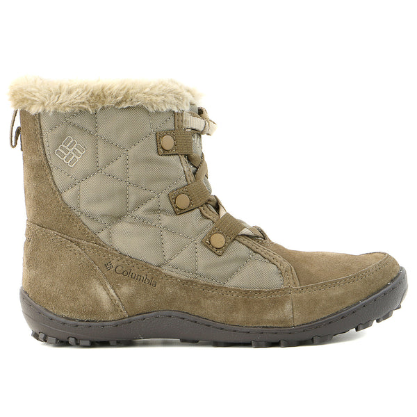Columbia Minx Shorty Oh Herringbone Winter Boot  -  Pebble/Oxford Tan - Womens