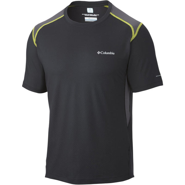 Columbia Freeze Degree II Short Sleeve T-Shirt Athletic Tee - Black - Mens