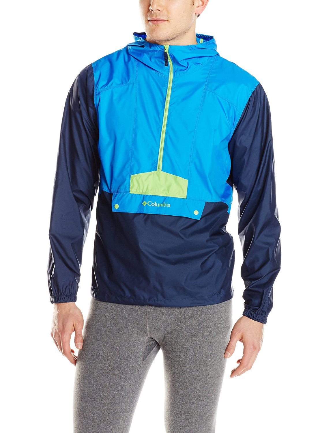 ba1c8f45454 Columbia Flashback Windbreaker Rain Pullover Jacket - Black - Mens ...