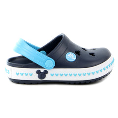 Crocs Crocband Mickey Clog Sandal Shoe - Navy/Electric Blue - Boys