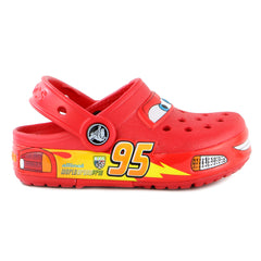 Crocs Crocslight Cars Clog Sandal Shoe - Red - Boys