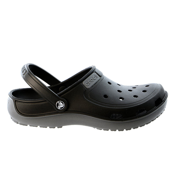 Crocs Duet Wave Clog Mule Sandal - Black/Charcoal - Mens
