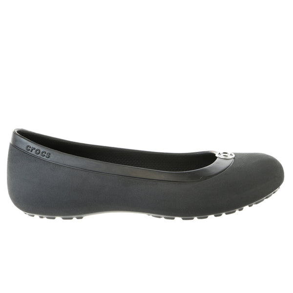 Crocs Mammoth Disc Ballet Flats Shoe - Black Silver - Womens