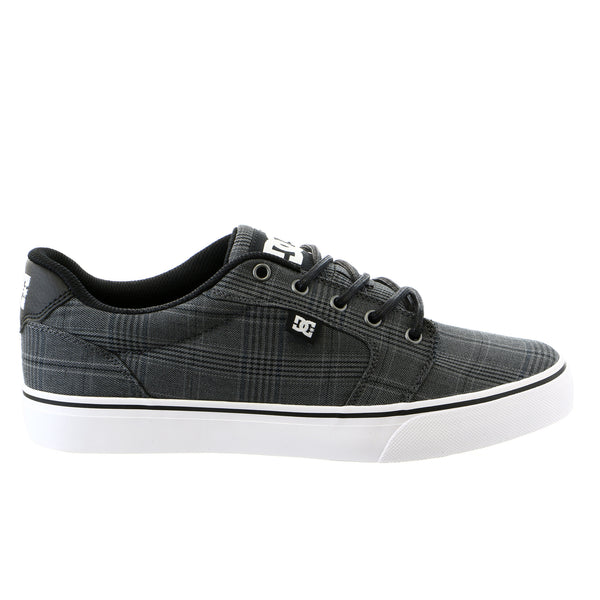 DC Anvil TX SE Low Top Skateboarding Sneaker Shoe - Black/White/Grey - Mens