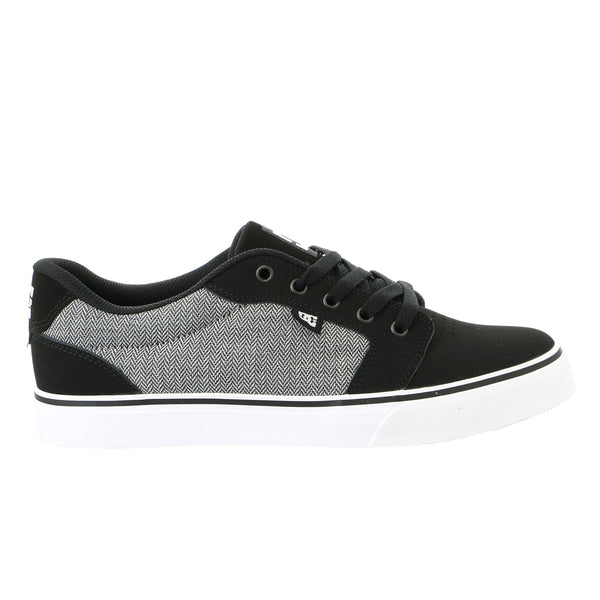 DC Anvil NB Skateboarding Sneaker Shoe - Black/White/Black - Mens