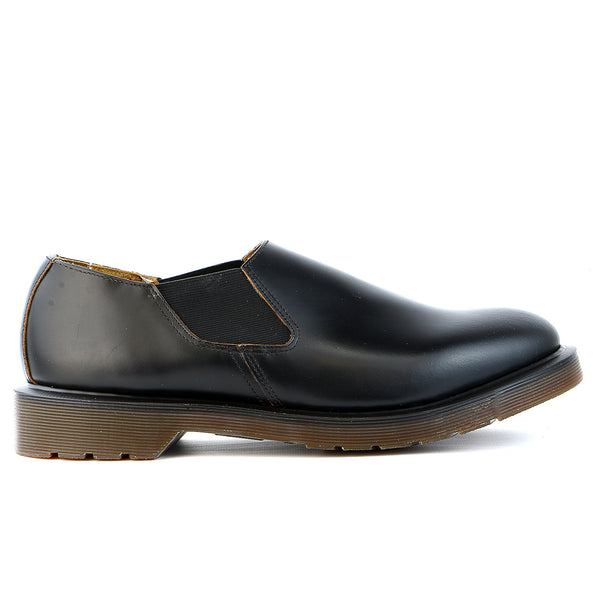 Dr Martens  Louis Gusset Slip On Oxford  - Black Leather - Mens