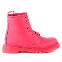 Dr Martens  Delaney Boots - NEON PINK - Boys