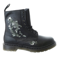 Dr. Martens Amylee Embroidered 8-Eye Boot - Black Softy - Womens