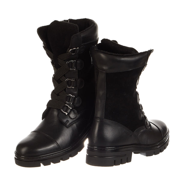 Eric Michael Jane Combat Leather Boots - Women's