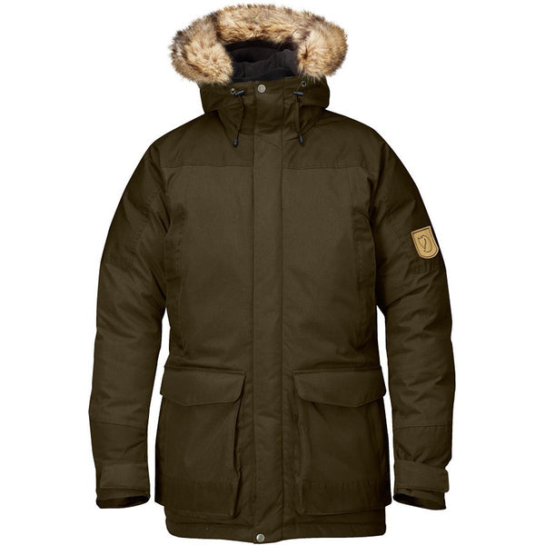 Fjallraven Kyl Parka Winter Hooded Down Jacket - Dark Navy - Mens